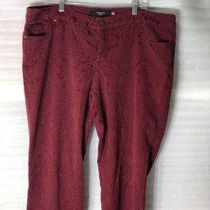 Torrid Denim Indigo Lace Skinny Jeans Pants 22